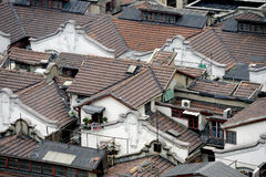 Shanghai hutong in bird view Stock Photography