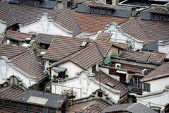 Shanghai hutong in der Vogelansicht Stockfotografie