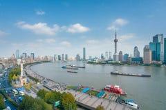 Shanghai i dag Royaltyfria Bilder