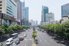 Shanghai i stadens centrum Kina royaltyfria foton