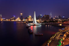 Shanghai international metropolis night Stock Image