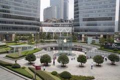 shanghai jabłczany sklep fotografia royalty free