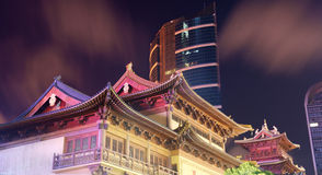 Shanghai Jingan Temple Stock Photo