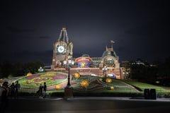 Shanghai Kina Disneyland ingång arkivbilder