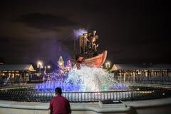 Shanghai Kina Disneyland ingång royaltyfria bilder