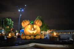 Shanghai Kina Disneyland ingång arkivbild