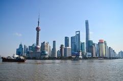 Shanghai Kina horisont Fotografering för Bildbyråer