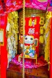SHANGHAI KINA - 29 JANUARI, 2017: Litet område för medgivande för försäljningsbås lokaliserat inre franskt av Shanghai som är pop arkivfoton