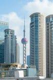 SHANGHAI KINA - JUNI 26,2017: Shanghai stad i morgonen Royaltyfria Foton