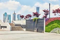 SHANGHAI KINA - MAJ 25,2015: Härlig sikt av Shanghai - Bund Royaltyfria Bilder