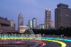 Shanghai Kina på natten arkivfoto