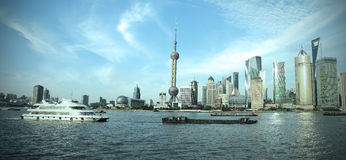 Shanghai landmar skyline. Lujiazui Finance&Trade Zone of Shanghai skyline at landmar city Stock Image