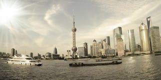 Shanghai landmar skyline. Lujiazui Finance&Trade Zone of Shanghai skyline at landmar city Royalty Free Stock Photos