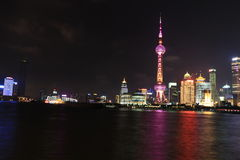 Shanghai landmark, the oriental pearl TV tower Royalty Free Stock Image