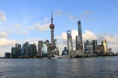 Shanghai landmark, the oriental pearl TV tower Stock Photos