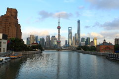 Shanghai landmark, the oriental pearl TV tower Stock Image