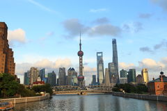 Shanghai landmark, the oriental pearl TV tower Royalty Free Stock Images