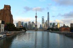Shanghai landmarkï ¼ Œ de oosterse toren van pareltv Stock Afbeelding