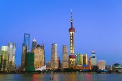 Shanghai landmark at New skyline. Lujiazui Finance&Trade Zone of Shanghai  at Stock Photos