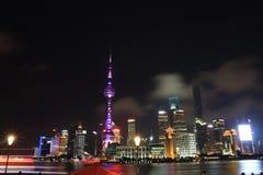 Shanghai landmark, the oriental pearl TV tower Royalty Free Stock Photography