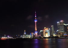 Shanghai landmark the oriental pearl TV tower Royalty Free Stock Images