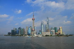 Shanghai landmark, the oriental pearl TV tower Royalty Free Stock Image