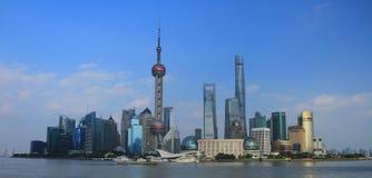 Shanghai landmark, the oriental pearl TV tower Royalty Free Stock Photos