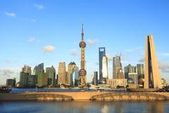 Shanghai landmark skyline. Shanghai Lujiazui landmark skyline at city landscape Royalty Free Stock Photography