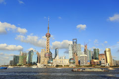 Shanghai landmark skyline. Shanghai's modern architecture cityscape landmark skyline Royalty Free Stock Photography