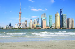 Shanghai landmark skyline Royalty Free Stock Photography