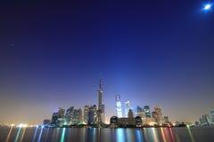 Shanghai landmark skyline at dawn. City landscape Stock Photos