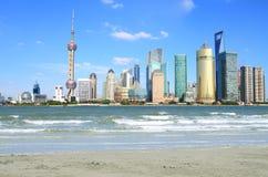 Shanghai landmarkhorisont Royaltyfri Fotografi