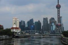 Shanghai landmark,Outside the White Bridge Stock Photos