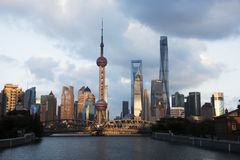 Shanghai landscape. The Oriental pearl tower,Shanghai,China Stock Photography