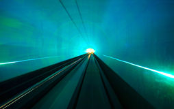 Shanghai Light Display Tunnel Into the Future Royalty Free Stock Images