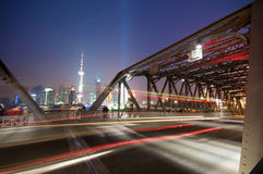 Shanghai lights Stock Photography