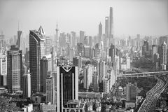 shanghai linia horyzontu Zdjęcia Royalty Free
