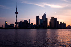 shanghai linia horyzontu obraz royalty free