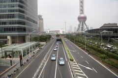 Shanghai Lujiazhui område Arkivbild