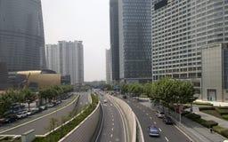 Shanghai Lujiazhui område Fotografering för Bildbyråer