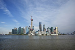 Shanghai Lujiazui. Lujiazui, Shanghai is China's international financial and trading center, located opposite the Shanghai Bund, the symbol of China's economic Stock Image