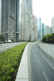 Shanghai Lujiazui city landscape of street scene streetscape Royalty Free Stock Photos