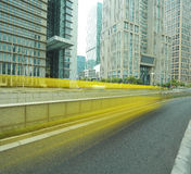 Shanghai Lujiazui city landscape of street scene streetscape Royalty Free Stock Photography