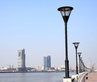 Shanghai Lujiazui, the city marina. Shanghai Lujiazui Finance & Trade Zone City marina Stock Photo