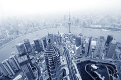 Shanghai lujiazui finance royalty free stock photo