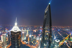 Shanghai lujiazui financial center Stock Photos