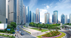 Shanghai Lujiazui Financial Center skyscraper Stock Images
