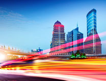 Shanghai Lujiazui financial district at night Royalty Free Stock Image