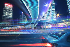 Shanghai Lujiazui highway at night Royalty Free Stock Photos