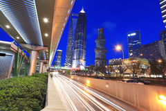 Shanghai Lujiazui highway at night Royalty Free Stock Images